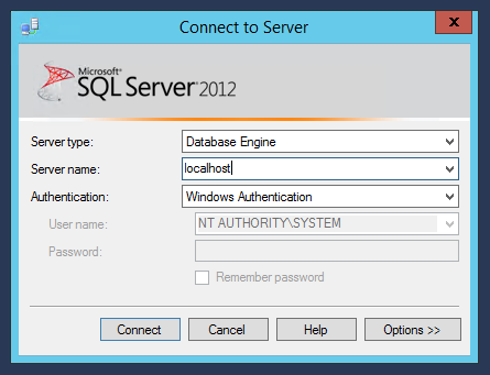 Launching SSMS as the SYSTEM account