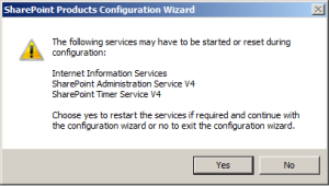 SharePoint upgrade warning